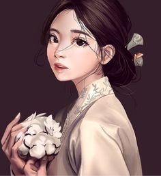 Hanbok illustration | 한복 Hanbok : Korean traditional clothes[dress]
