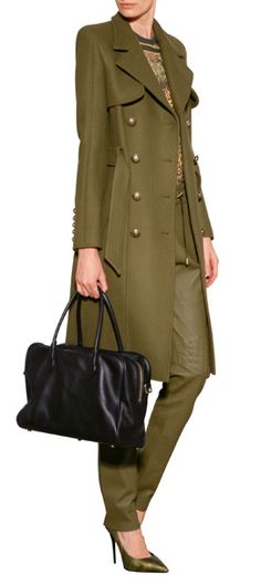 Boasting military styling but with a modern twist, this sleek wool trench from Balmain is destined for cult status #Stylebop
