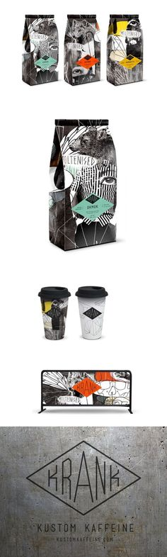 Get Your Caffeine Fix With These Collage-Style Coffee Bags — The Dieline | Packaging & Branding Design & Innovation News #coffeebags