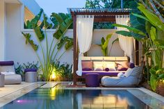 Legian (Kuta) - Anemalou Villas & Spa Outdoor Areas, Outdoor Rooms, Outdoor Living, Outdoor Decor, Outdoor Furniture, Outdoor Daybed, Indoor Outdoor, Small Inground Pool, Small Pools