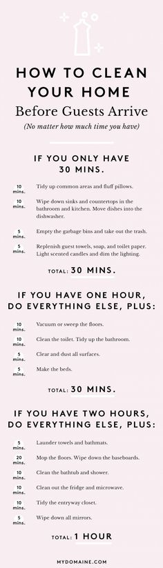 'The Ultimate Guide to Cleaning Your Home in an Hour...!' (via MyDomaine)