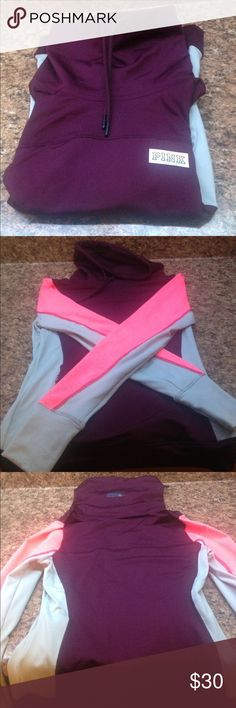 Victoria's Secret PINK athletic sweatshirt Victoria's Secret PINK athletic sweatshirt. Extra small. PINK Victoria's Secret Tops Sweatshirts & Hoodies