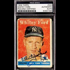 Whitey Ford 1958 Topps Signed Autographed Auto Vintage 320 PSA DNA 83691589 | eBay #whiteyford #ford #1958 #topps #signedcard #autograph #vintage
