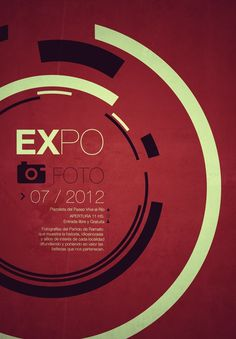 EXPOFOTO Swiss Style Posters by Martin Liveratore in Swiss Style Design Inspiration