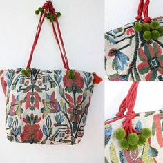 Floral Boho fabric bag that displays a Peruvian art on Thai fabric. You can either carry them as shoulder bags or use them as handbag, as the length of the handle can be adjustable as per your style :)  To buy: http://etsy.me/2s4UjEJ?utm_content=bufferc6aa5&utm_medium=social&utm_source=pinterest.com&utm_campaign=buffer