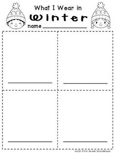 Winter Writing Kindergarten | Winter Writing for Kinders. $ Kindergarten writing activities for the ...