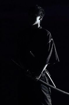 ♂ Japanese martial art samurai black & white photography