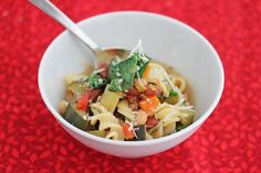 Super Easy Vegetable Bean Soup via Jeanette's Healthy Living #food #soup #healthy