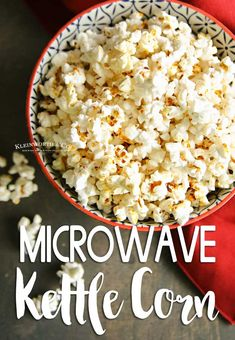 Did you know that making Homemade Kettle Corn is super easy? All you need is a microwave for this simple & delicious kettle corn recipe. Easy Appetizer Recipes, Healthy Dessert Recipes, Easy Snacks, Appetizers, Healthy Snacks, All You Need Is, Easy Family Meals, Easy Meals, Corn In The Microwave