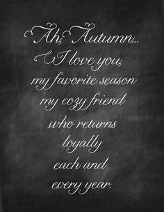 Fall Chalkboard Printable. The return of a dear friend...