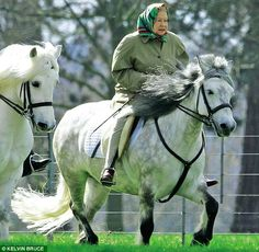 Queen Elizabeth II on a ride at Windsor Castle Isabel Ii, Her Majesty The Queen, Queen Of England, English Royalty, Queen Mother, Royal House, Royal Life, British Monarchy, Commonwealth