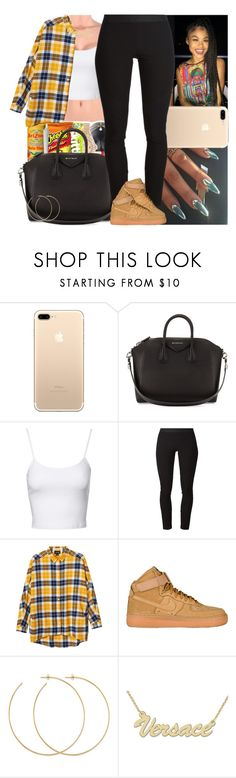 """""""Untitled #782"""" by msixo ❤ liked on Polyvore featuring Givenchy, Jane Norman, Helmut Lang, Monki, Nike air force, Allison Bryan and Zales"""
