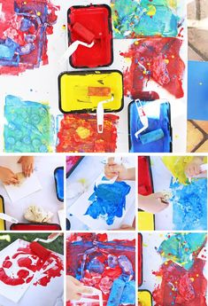 This easy art project for kids features a combination of resist art and motor skills development and children are sure to love squishing, pinching, and rolling the materials! Easy Art Projects, School Art Projects, Craft Projects For Kids, Arts And Crafts Projects, Creative Activities For Kids, Creative Kids, Kids Clay, Curious Kids, Epic Art