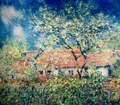 Springtime at Giverny by Claude Monet in oil on canvas, done in c. Now in a private collection. Find a fine art print of this Claude Monet painting. Claude Monet, Edgar Degas, Monet Paintings, Landscape Paintings, Landscapes, Wassily Kandinsky, Artist Monet, Art Et Nature, Camille Pissarro