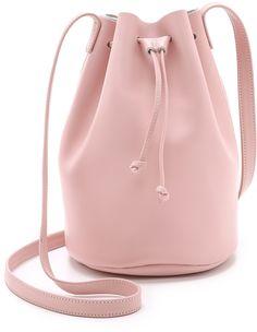 Pretty pink tone handbag, BAGGU Drawstring Bucket Bag