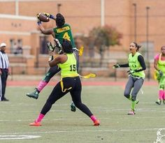 Nice jump and catch! Flag Football Games, Pictures Of Flags, Champs, Running, Stars, Nice, Lady, Ms, Awesome