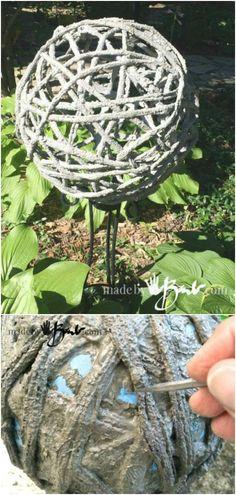 15 Near Genius DIY Concrete Ornaments That Add Beauty To Your Garden Z