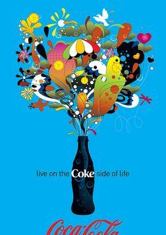 Coke Side of Life: Coca-Cola Coca Cola Poster, Coca Cola Ad, Pepsi, Coke, Designers Republic, Pop Art, Creative Advertising, Branding, Illustrations