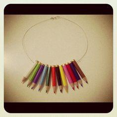 Kurşun boya kalemleriimss :P (Diy pencil necklace)