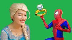 9 Best Spiderman Vs Joker With Frozen Elsa Ideas Spiderman Joker Elsa Frozen