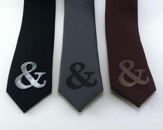 Ampersand Skinny Tie