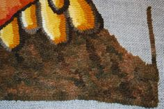 April Deconick from Red Jack Rugs How to pebble a background Non-linear hooking