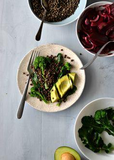 Beet red onion salad