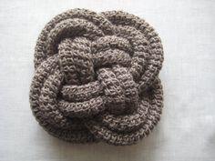 Crocheted Celtic Knot Pillow