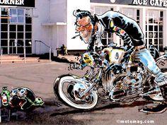 BD : Philippe Gürel expose chez ATS à Paris (11e arr.) - Moto Magazine - leader de l'actualité de la moto et du motard