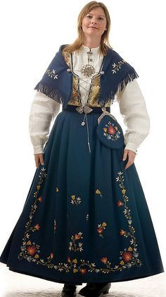 Handmade bunad (traditional folk costume) from Rogaland district, Norway.