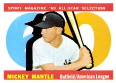 1960 Topps #563 - Mickey Mantle AS  Easy
