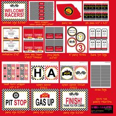 Race Car Party Printables Collection