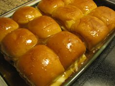 Baked Ham & Swiss Sandwiches. Best party sandwiches ever!