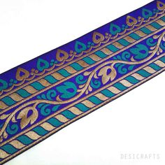 Hey, I found this really awesome Etsy listing at https://www.etsy.com/listing/188729296/brocade-silk-border-extra-wide-indian