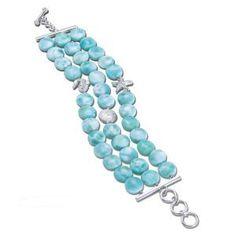 MarahLago Tide Larimar Bracelet - WOW!  Love It!