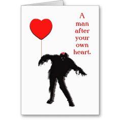 Zombie Valentine Greeting Card  Valentines Valentines greetings