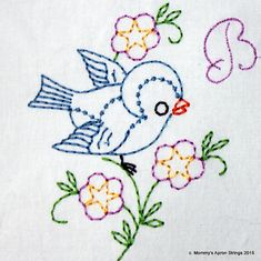 Grand Sewing Embroidery Designs At Home Ideas. Beauteous Finished Sewing Embroidery Designs At Home Ideas. Learn Embroidery, Crewel Embroidery, Hand Embroidery Designs, Vintage Embroidery, Cross Stitch Embroidery, Embroidery Patterns, Embroidery Thread, Learning To Embroider, Lazy Daisy Stitch