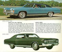 1971 Chevrolet Impala Custom Coupe and Monte Carlo