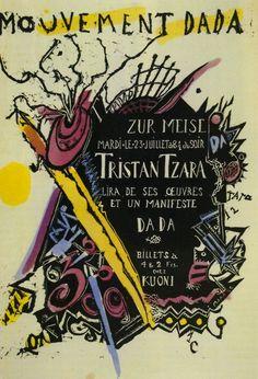 Marcel Janco, Poster for the soirée of Tristan Tzara at the Zunfthaus zur Meisen, 1918 Tristan Tzara, Tel Aviv, Kurt Schwitters, Zurich, Self Awareness Quotes, Poster Creator, Milk Magazine, One Decade, Marcel Duchamp