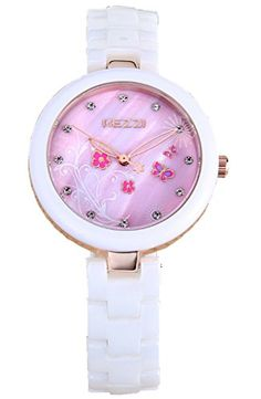 Kezzi Women's Watches K1221 Fashion Luxury Quartz Analog Pink Floral Dial Ceramic Bracelet Gold Wrist Watch Kezzi http://www.amazon.com/dp/B012BZYBOW/ref=cm_sw_r_pi_dp_BBkSvb1Y2RC4D