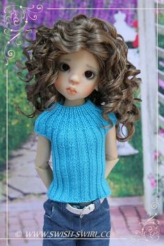 Swish and Swirl blog » Knitted top for Kaye Wiggs MSD dolls