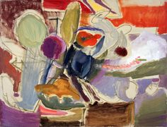 Flowers, Interior, c.1952 by Ivon Hitchens.  © The Estate of Ivon Hitchens. All rights reserved. DACS 2017. Photo: Jonathan Clark & Co.