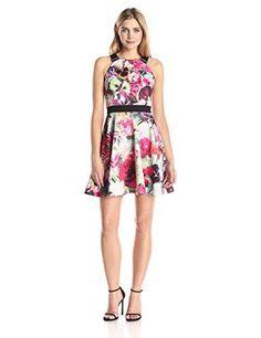 Ted Baker Womens Samra Floral Swirl Skater Dress Fuchsia 3 >>> Click image for more details.