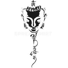 bouddhisme T-shirt premium Femme Buddha Tattoo Design, Om Tattoo Design, Buddha Tattoos, Buddha Drawing, Buddha Art, Zen Painting, Buddha Painting, Cool Art Drawings, Tattoo Drawings