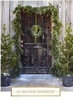 The Holiday Doorstep: literal unadorned adornment.