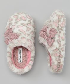 Take a look at this Pink Leopard Slippers - Kids by Laura Ashley on today! Pink Leopard, Cheetah, Pink Grey, Fuzzy Slippers, Winter Slippers, Bedroom Slippers, Cute Pajamas, Just Girly Things, Everything Pink