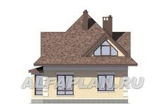 Вид сзади Traditional House, Gazebo, House Plans, House Design, Outdoor Structures, Cabin, How To Plan, House Styles, Modern