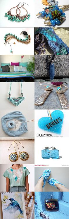 BOHO BLUES by Di on Etsy--Pinned with TreasuryPin.com