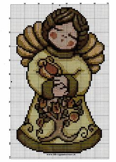 schema punto croce angelo thun   Hobby lavori femminili - ricamo - uncinetto - maglia