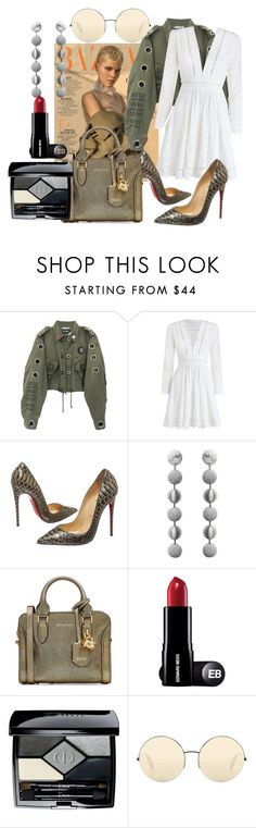 """Women of the year"" by sofiacalo ❤ liked on Polyvore featuring KRISVANASSCHE, Zimmermann, Christian Louboutin, Rebecca de Ravenel, Alexander McQueen, Christian Dior and Victoria Beckham"